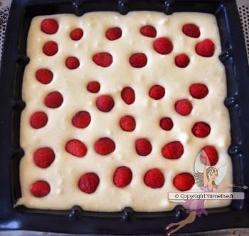 framboises dans la pâte