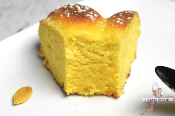 part de gâteau au potiron et amande