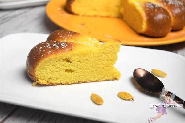 part de gâteau potiron amande