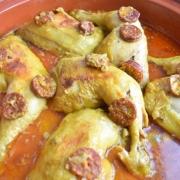 poulet et chorizo en tajine