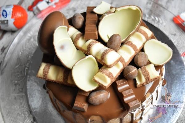 drip cake aux chocolats Kinder
