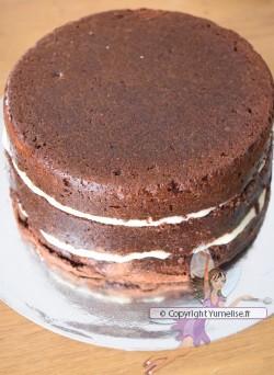 montage du gâteau licorne