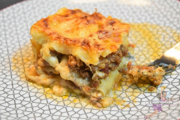 part de lasagnes à la bolognaise