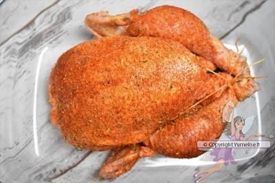 préparation du poulet rôti