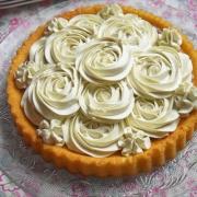 tarte à la pâte de spéculoos et ganache chocolat blanc