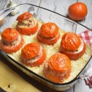 tomates farcies et riz cuits à l'Omnicuiseur
