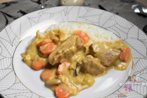 blanquette de veau et riz basmati