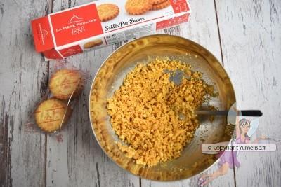 biscuits émiettés et beurre