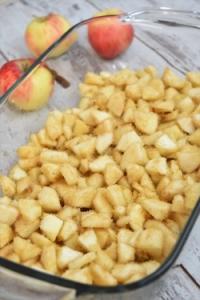 dés de pommes, 4 épices et citron
