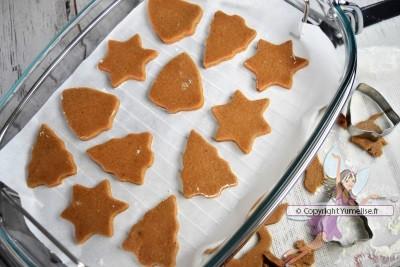 gâteaux de Noel avant cuisson