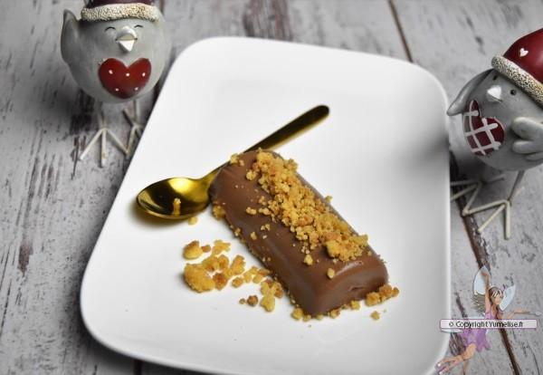 mini bûche a chocolat caramel et sablés pur beurre