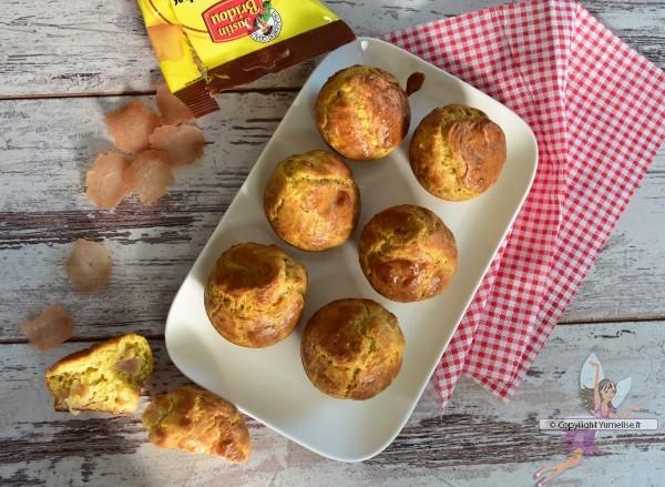 muffins au fines tranches séchées de poulet et au curry