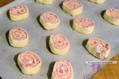 roulés sur plaque avant cuisson