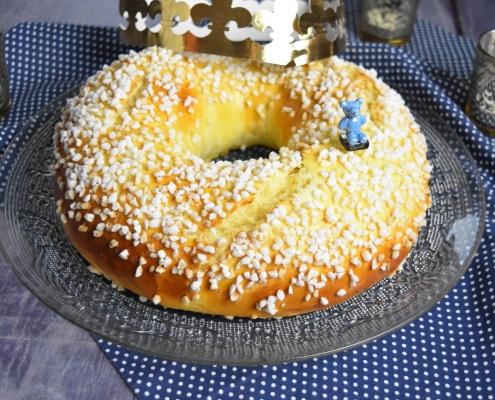 brioche des rois au sucre en grains
