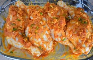 cuisses de poulet en marinade cari