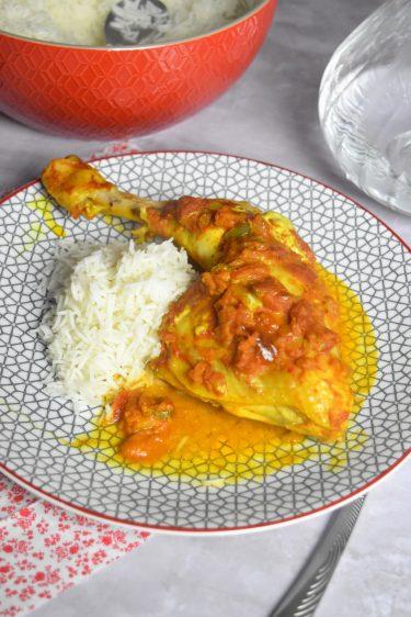 cari de poulet et riz