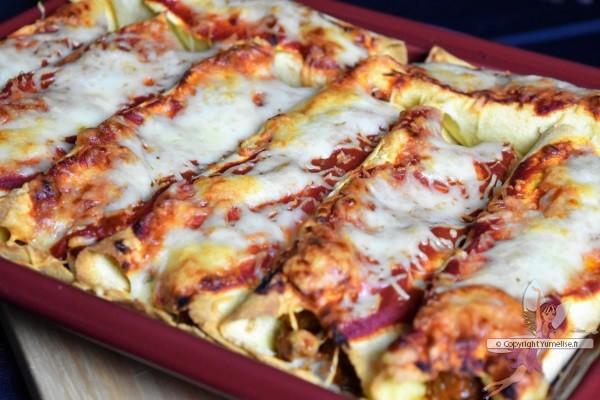 enchiladas gratinées