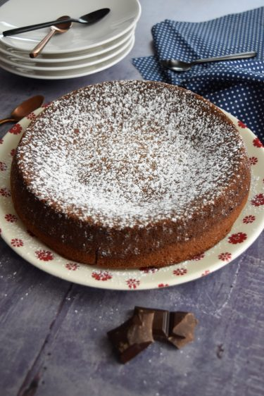 gâteau au chocolat cuit