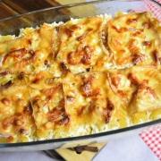 plat de gratin de pâtes