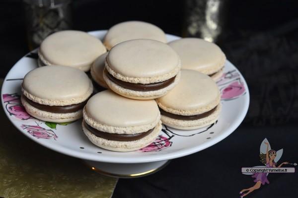 macarons fourrés à la truffe au chocolat