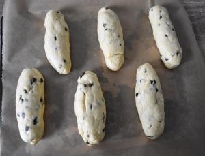 viennoises aux pépites de chocolat façonnées