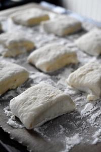 carrés de beignets