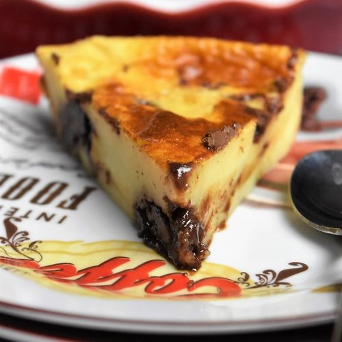 part de clafoutis au Nutella