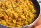 plat de curry d'aubergine