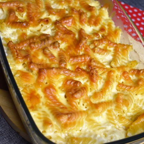 gratin de pâtes aux 3 fromages cuit