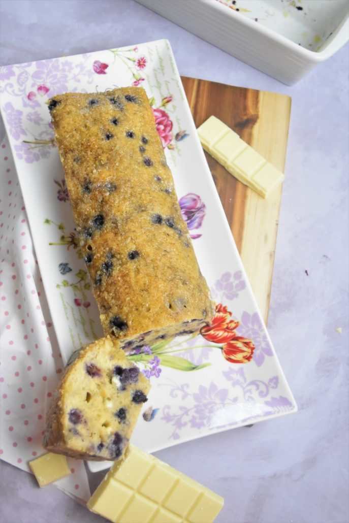 Cake myrtilles et chocolat