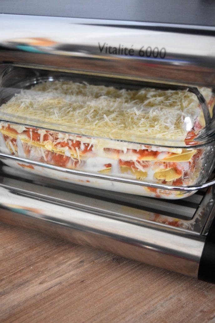 Lasagnes au thon et sauce pesto