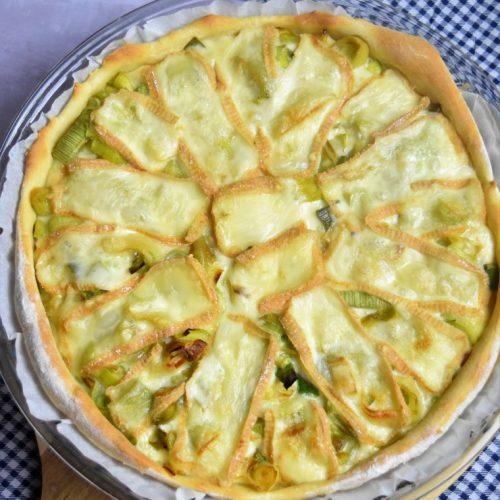 la tarte aux poireaux et fromage maroilles