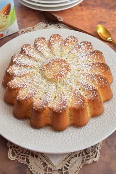 Gâteau au lait d'amande grillée