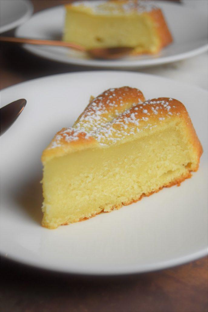Gâteau moelleux au lait d'amande