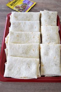Burritos pliés