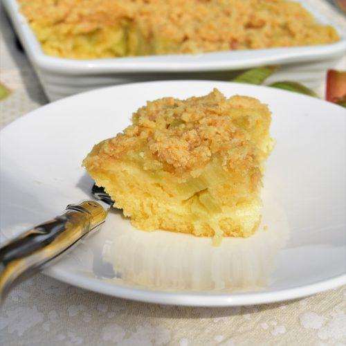 Cake et crumble à la rhubarbe