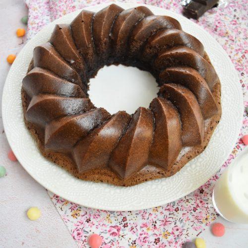 Gâteau couronne au chocolat