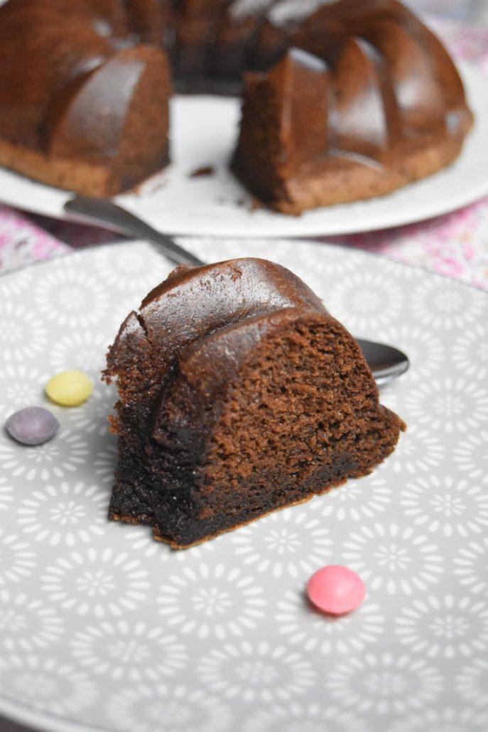 Part de gâteau au chocolat des écoliers