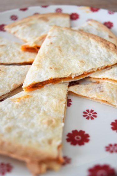 tortillas au fromage et chorizo