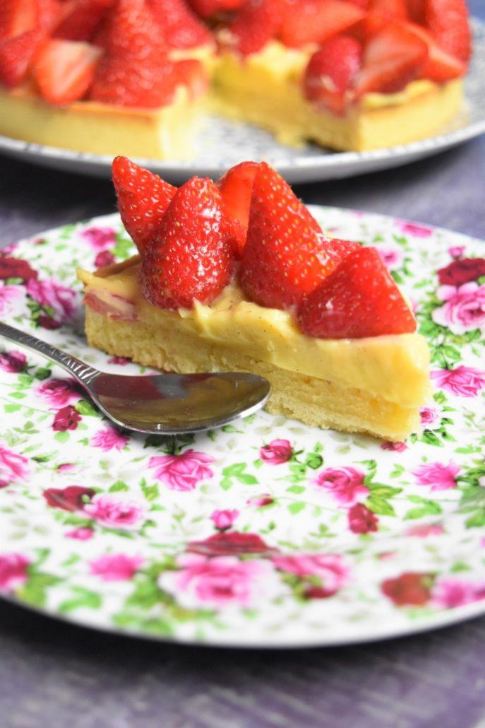 Part de tarte aux fraises