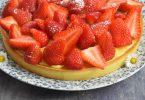 La tarte aux fraises à la crème d'amande