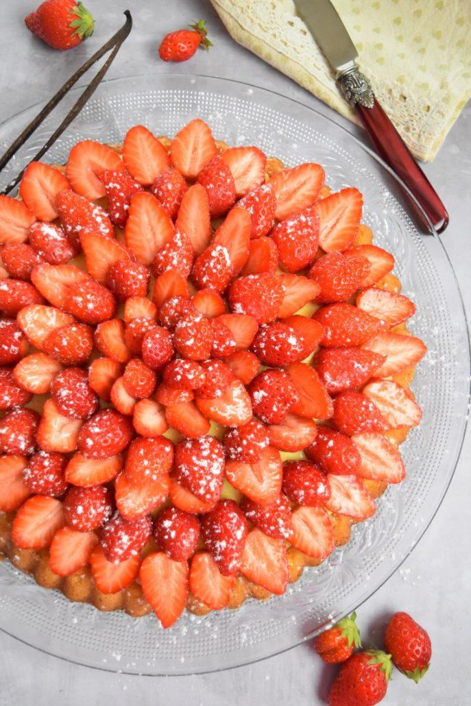 Tarte aux fraises mara des bois
