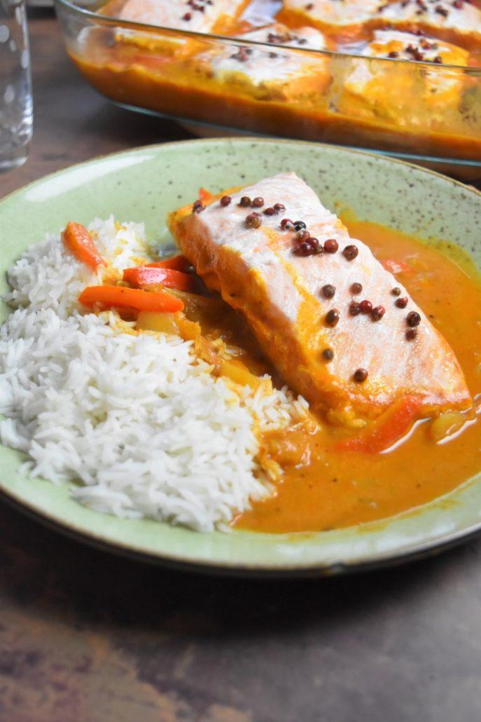 saumon et riz basmati