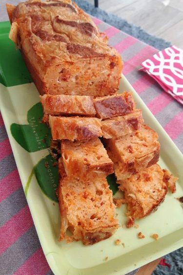 Cake au chorizo et au reblochon