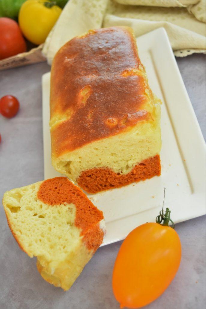 Cake à la tomate et mozzarella