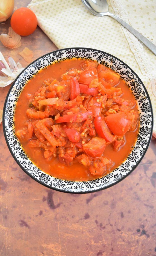 poivrons rouges et tomates