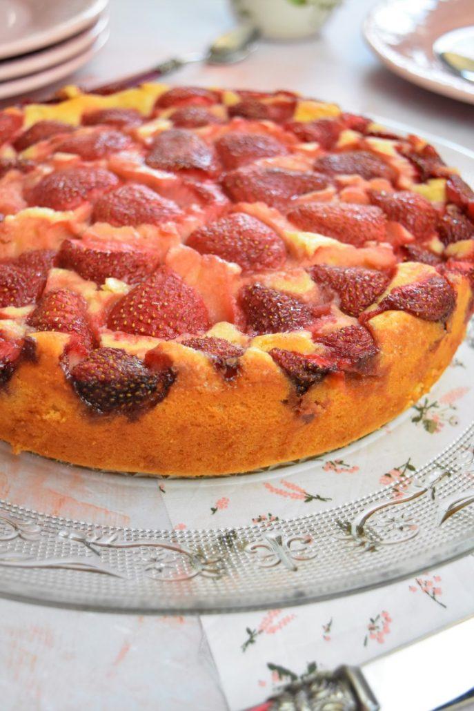 Gâteau au yaourt et aux fraises
