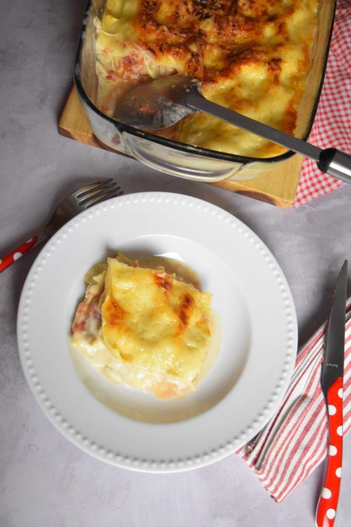 Part de lasagnes au poulet
