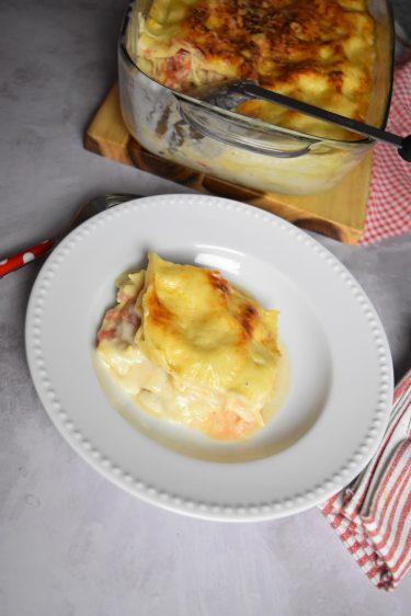 Lasagnes au poulet rôti