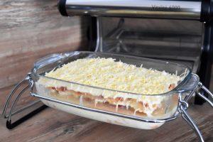 Préparation des lasagnes au poulet